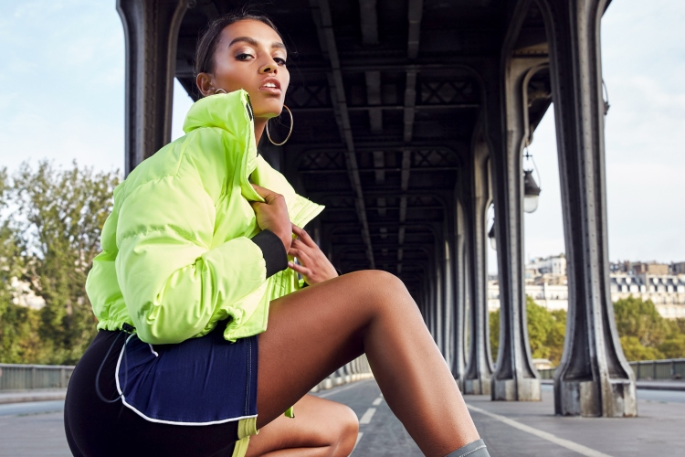 missguided neon outerwear puffer jacket bright colour