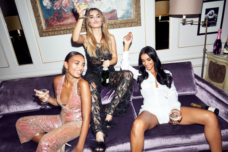 MISSGUIDED PARTY OUTFITS SEQUIN JUMPSUIT
