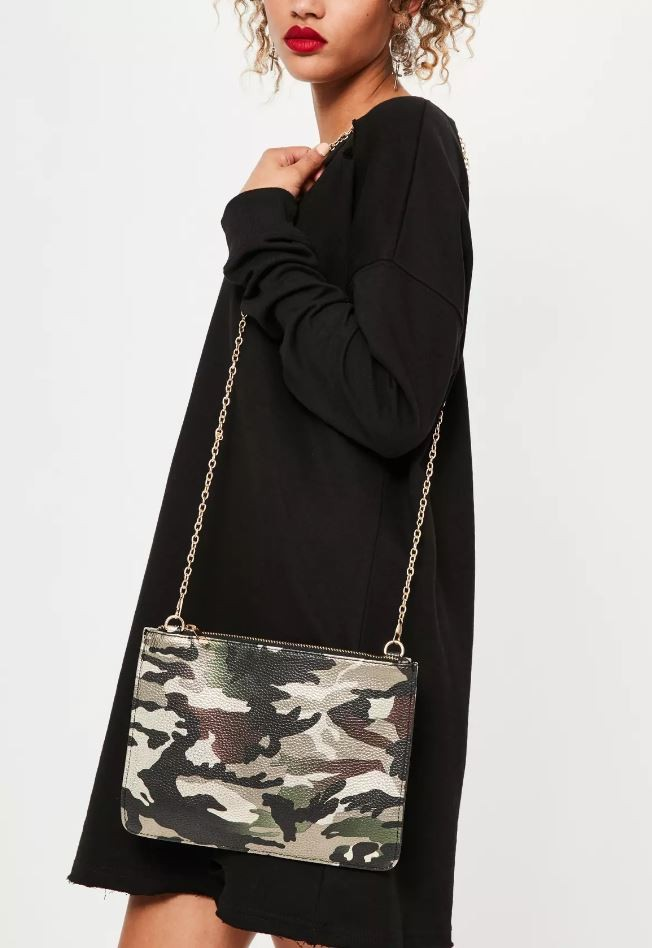 camouflage clutch bag