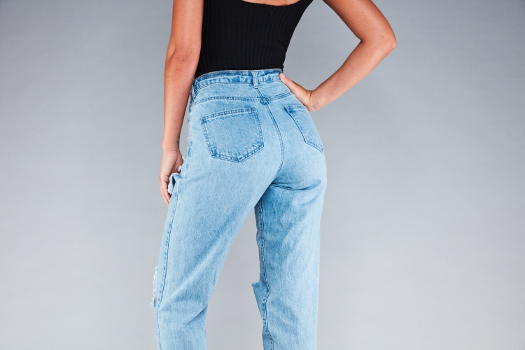 missguided riot jean mom jeans denim