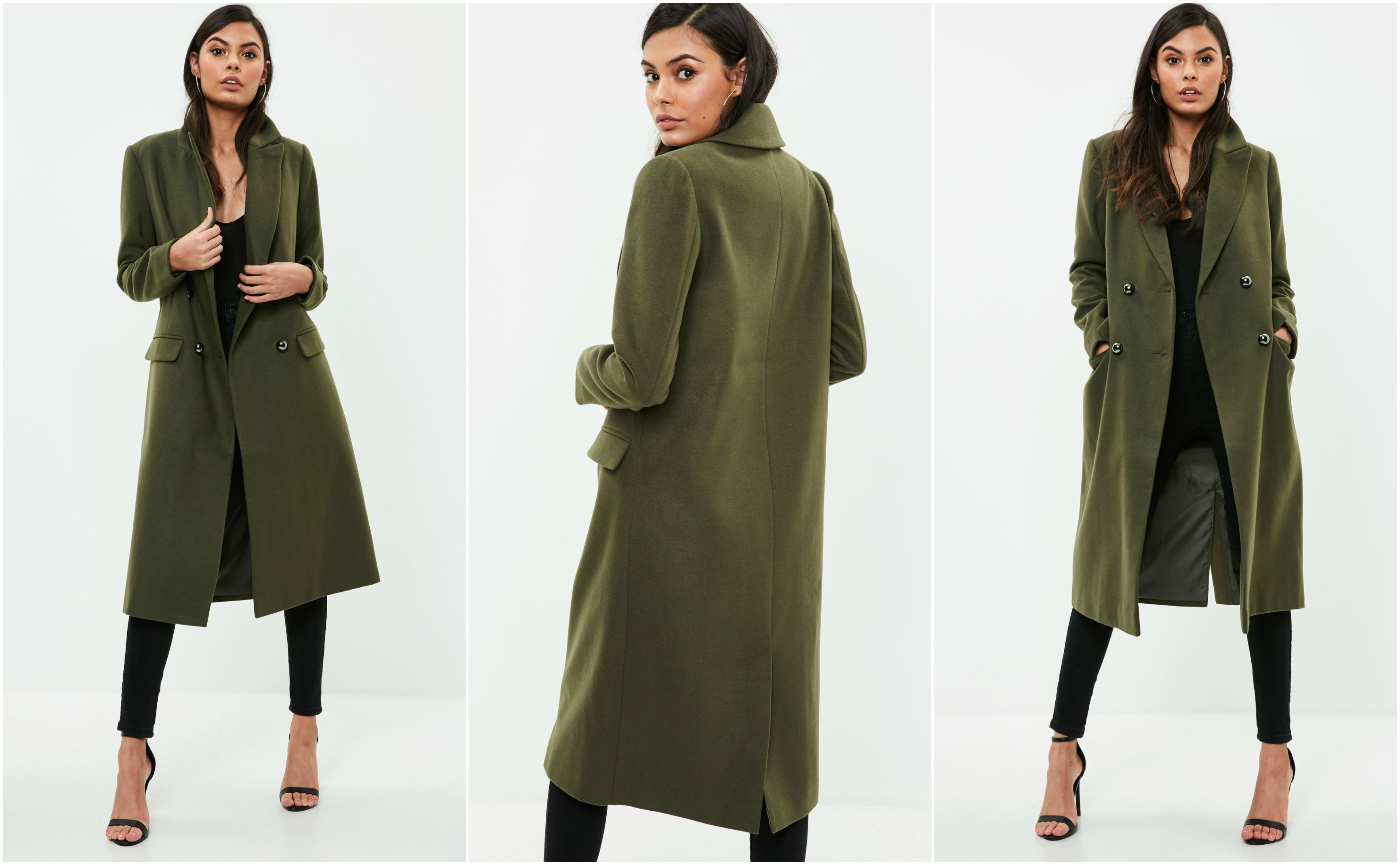 Missguided Outlet Store Faux Wool Military Coat