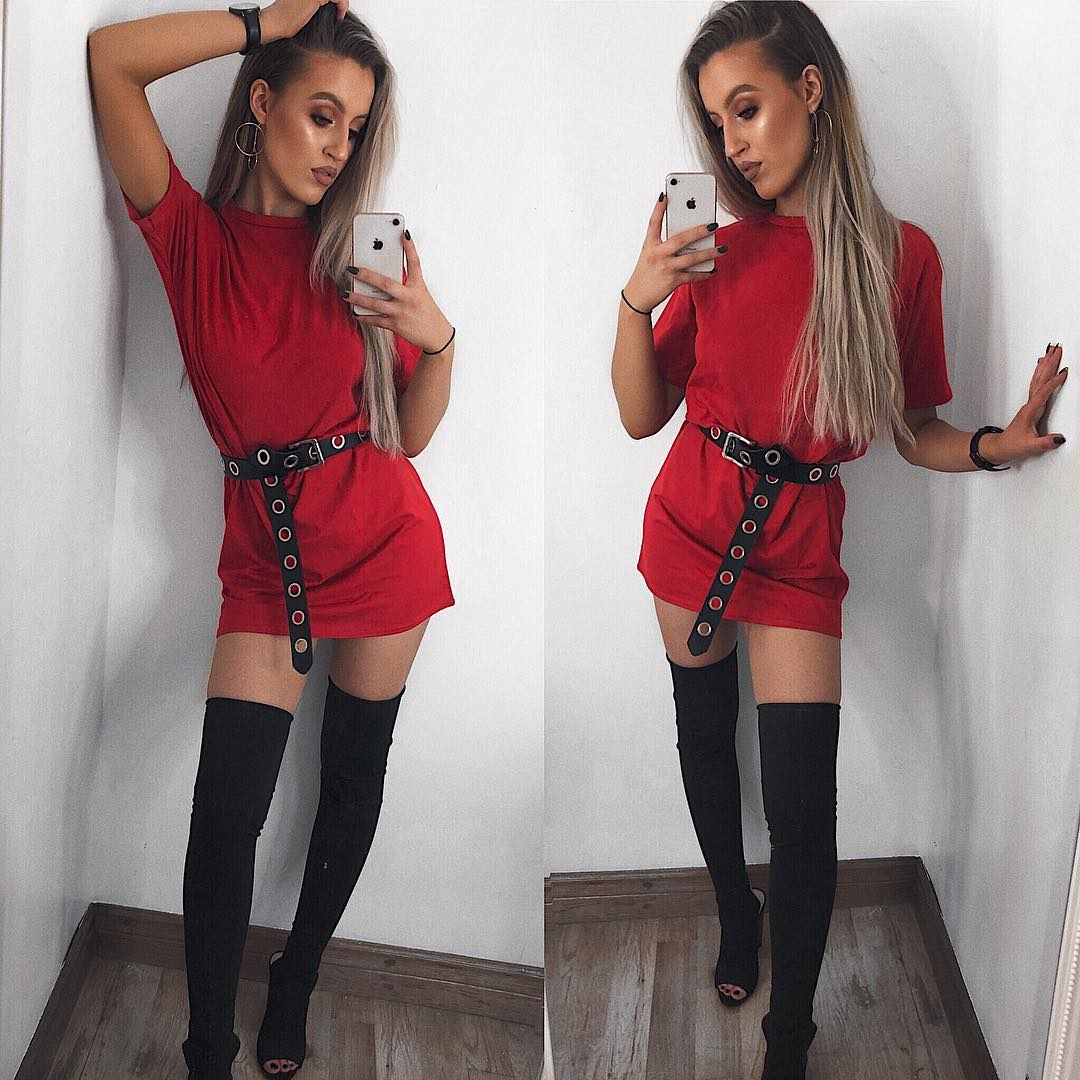 missguided t-shirt dress travel outfits inspo