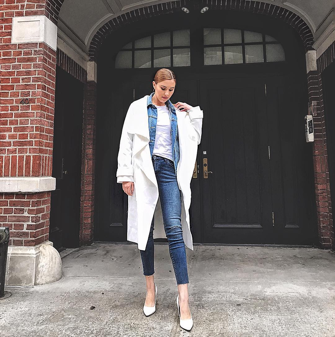 missguided double denim airport outfits inspo