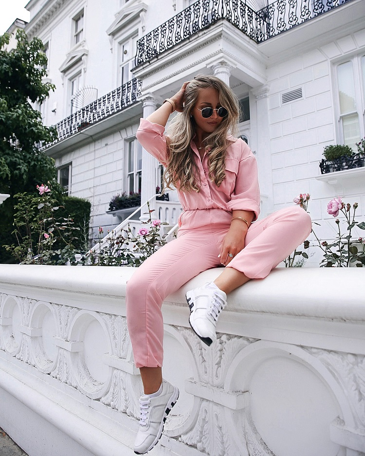 missguided pink utility jumpsuit