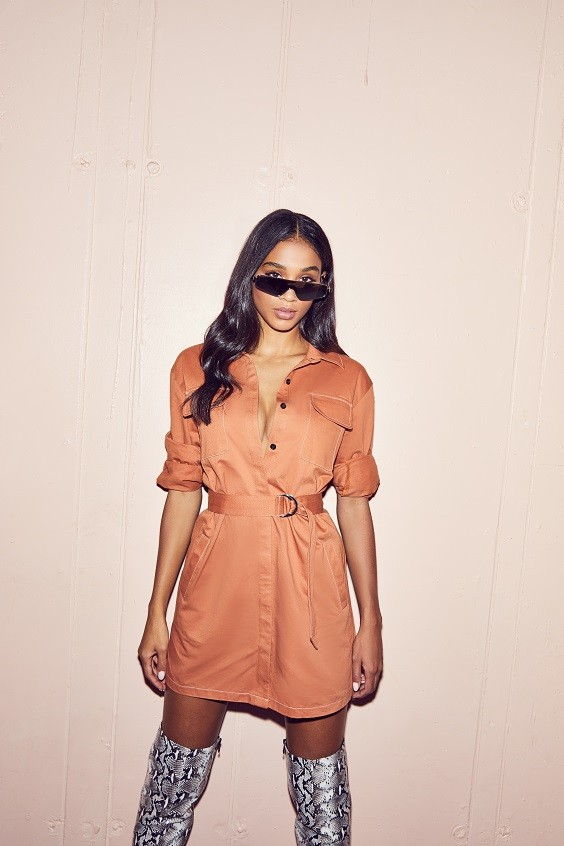 missguided new casual edit shirt dress