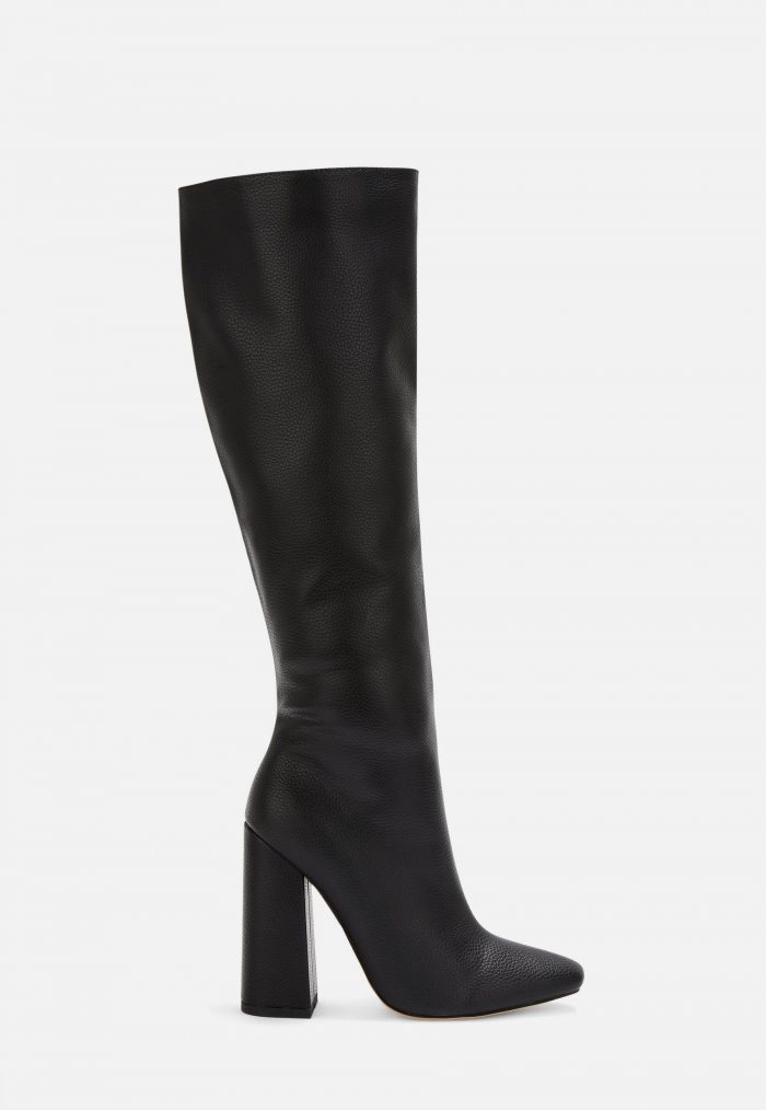 Black over the knee winter boots