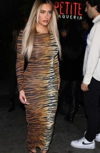 Stassie Baby Tiger Print Dress Grammys after party