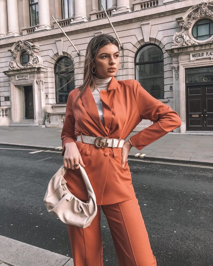 babes of missguided orange suit