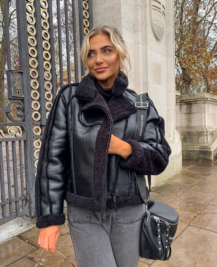 Black aviator jacket Babes of Missguided