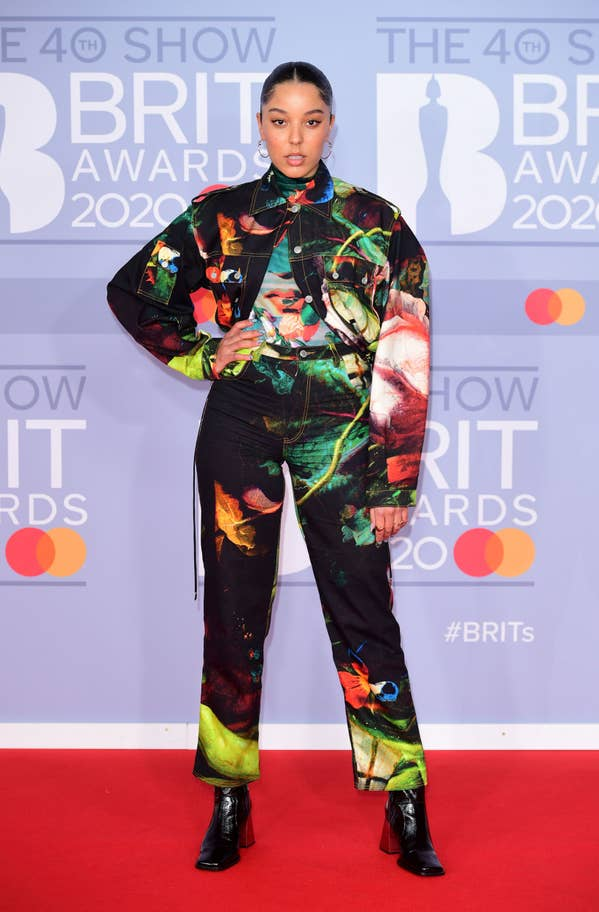 Grace Carter Red Carpet Look at the Brits
