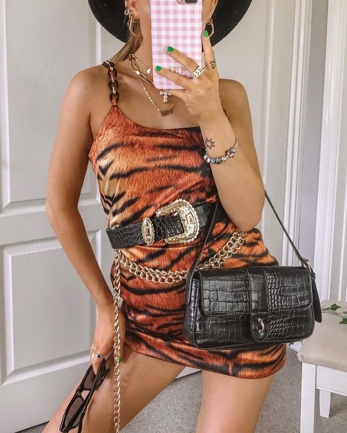 Chloe Davie tiger dress