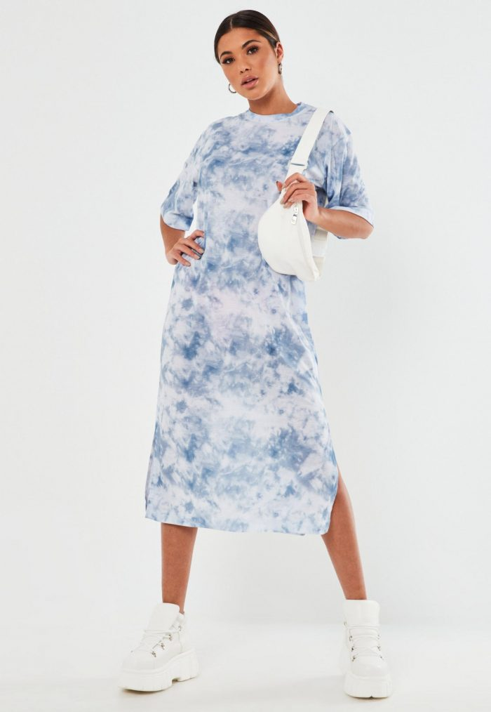 Tie Dye your clothes at home, blue dress example