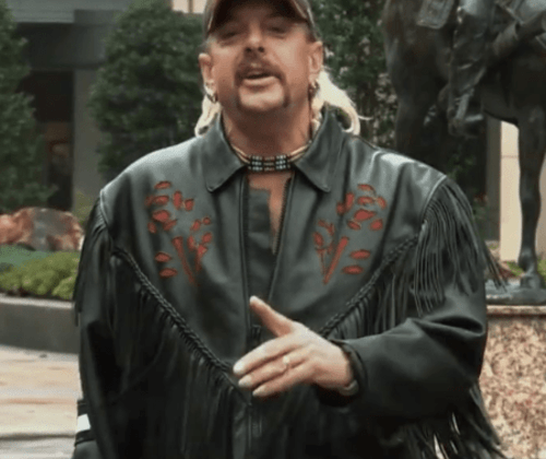 Joe exotic black leather jacket