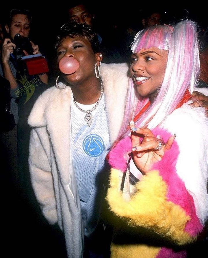 Celebrities wearing SJ Lil Kim and Missy Ellliott