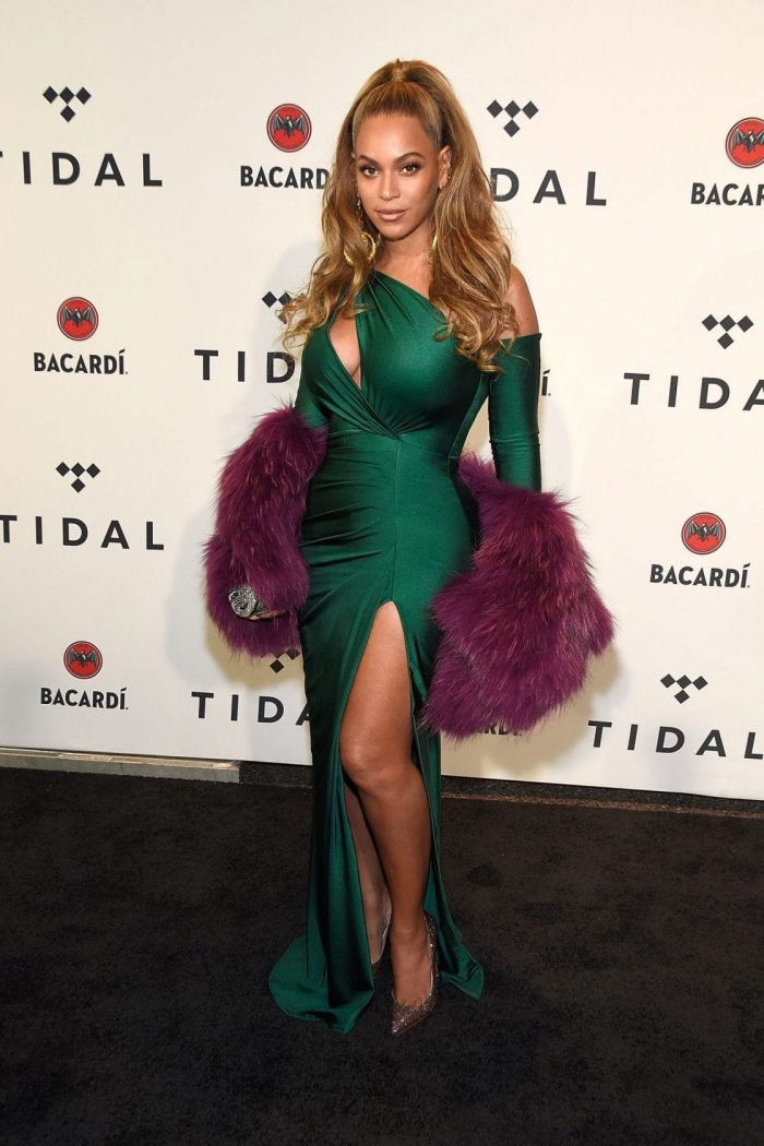 Beyoncé Tidal green dress
