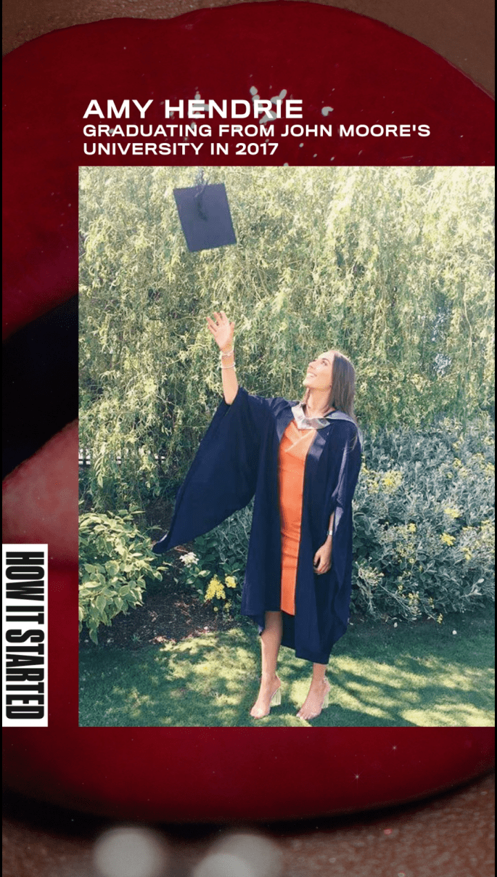 Amy hendrie how it started graduation photo