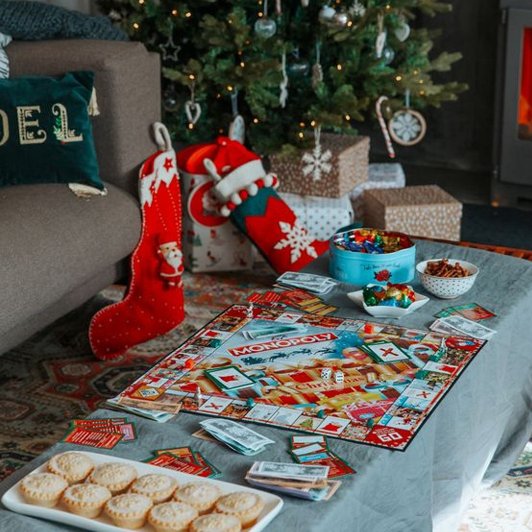 Christmas stocking monopoly tree cookies Christmas games Missguided