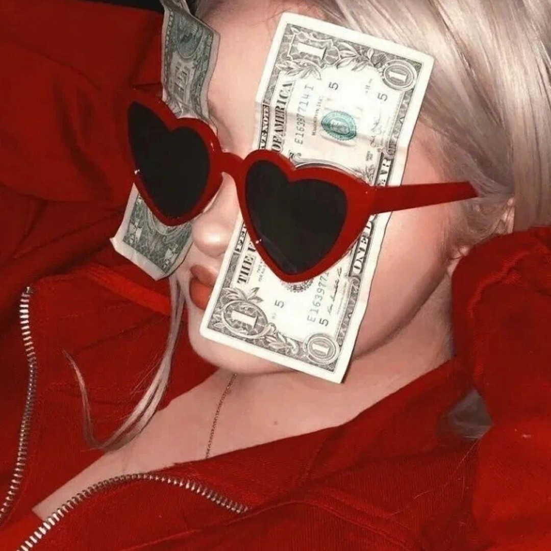 student loan money love heart sun glasses red top red lipstick Missguided