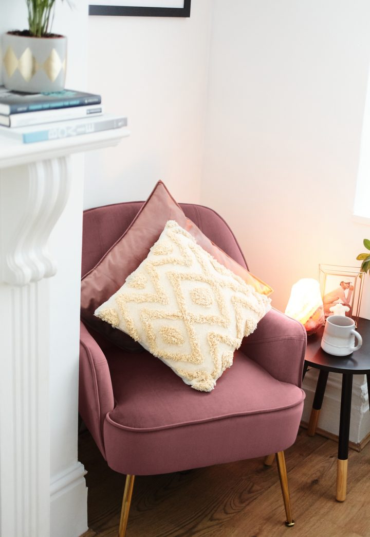cushions on a chair to make student accommodation feel more personal