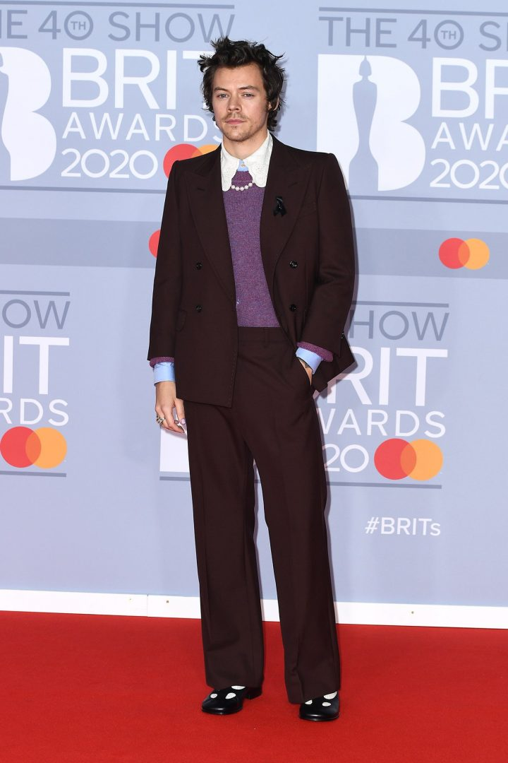 harry styles brits 2020 red carpet