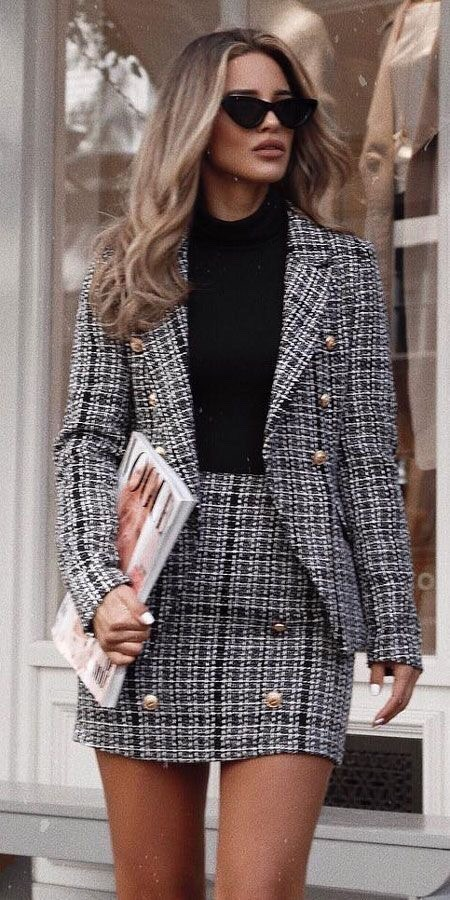 confident plaid outfit missguided