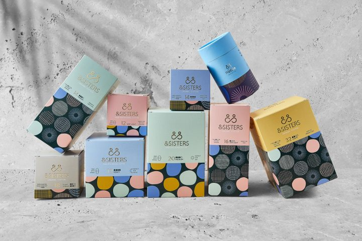 group shot of &sisters period products