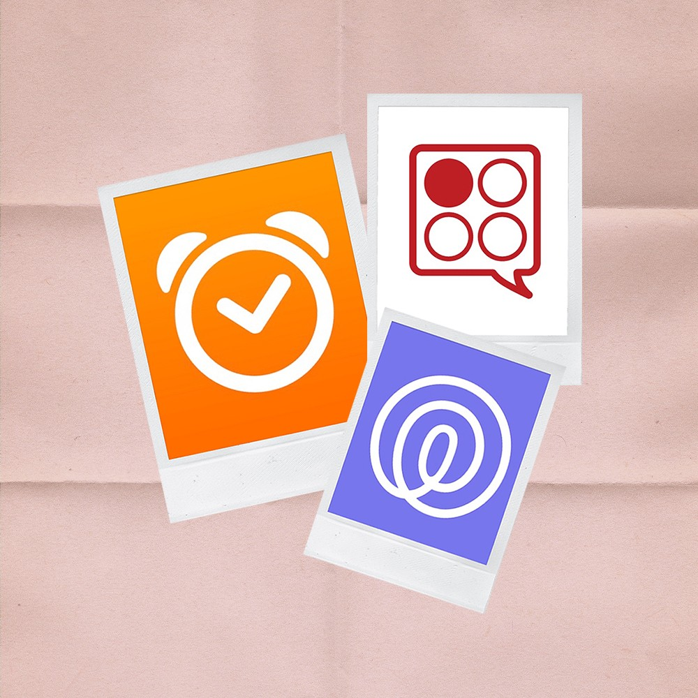 grid of three student apps