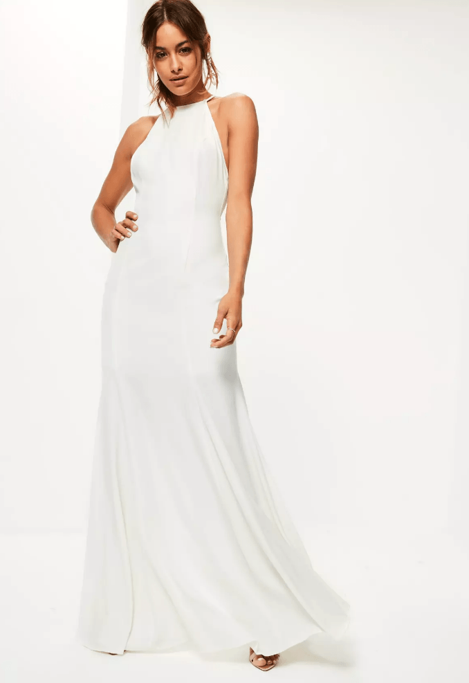 Bridal looks for the cool girl missguided for Super low back wedding dress