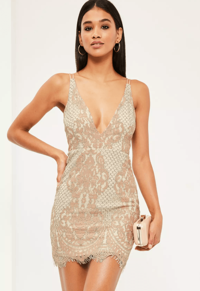 strappy lace dress
