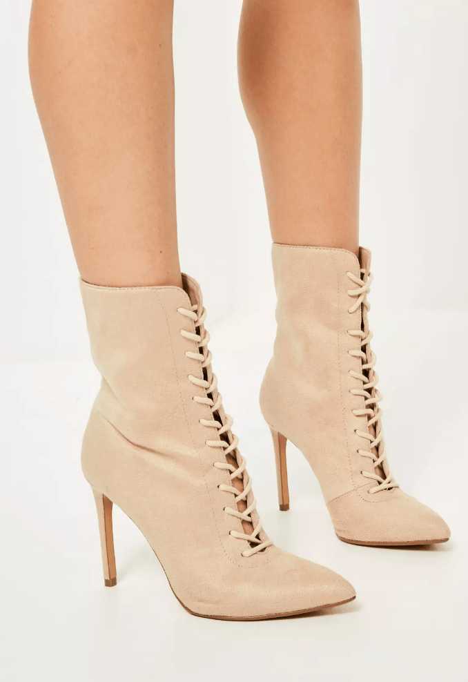nude pointed boots