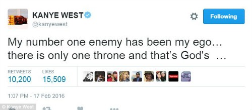 Kanye West Tweets Motivational