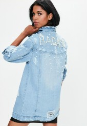 Blue Pearl Denim Trucker Jacket