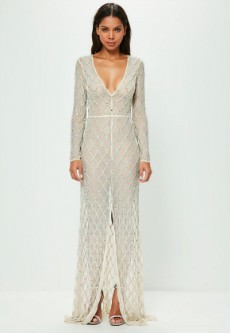 Peace + Love Maxi Embellished Dress