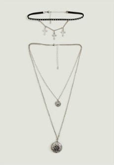 silver-cross-charm-layered-choker-necklace-pack