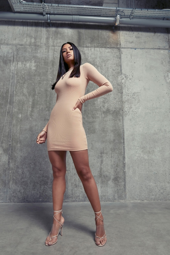missguided layer long sleeved dresses