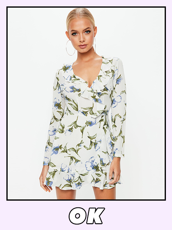 missguided white floral dress