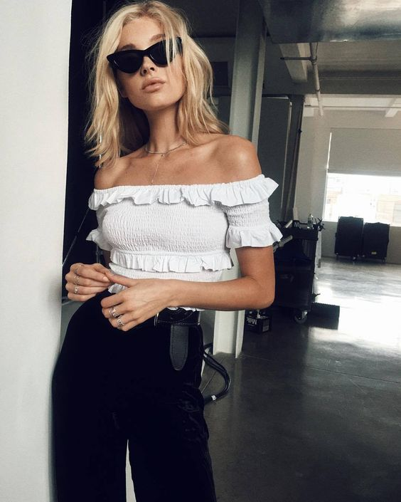 aeb920a70870 A Bardot top in any colour is the perfect summer accessory