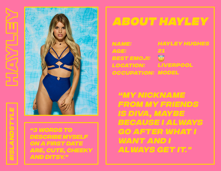 hayley love island profile