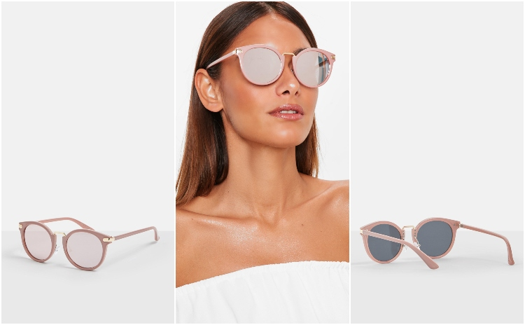 missguided pink cat eye sunglasses