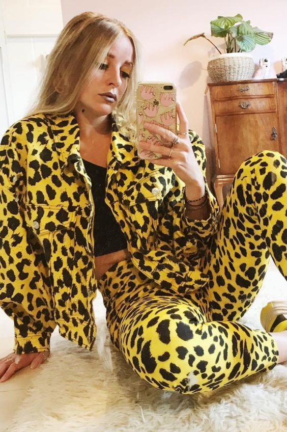 missguided animal print co-ord