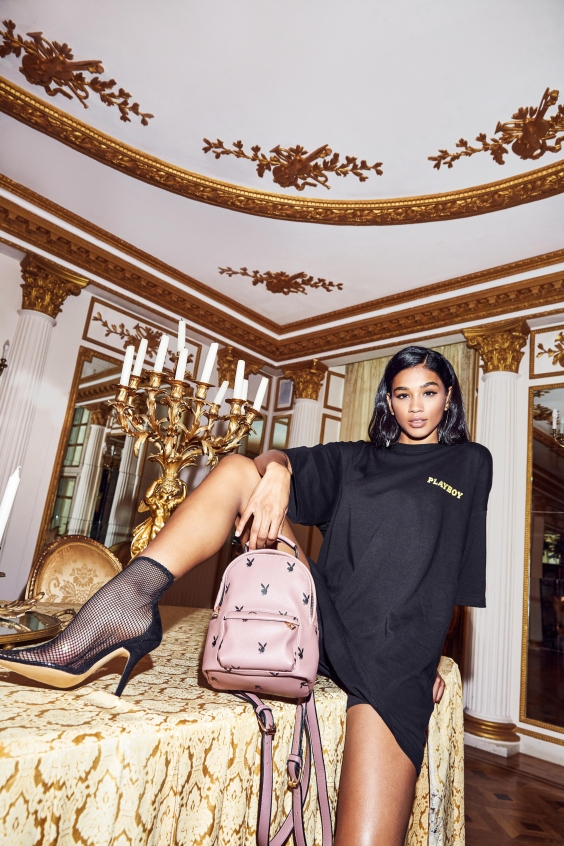 playboy x missguided t-shirt dress and bag