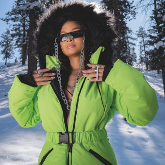 Ski green snowsuit