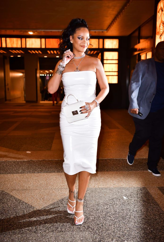 Rhianna celebrity party outfit