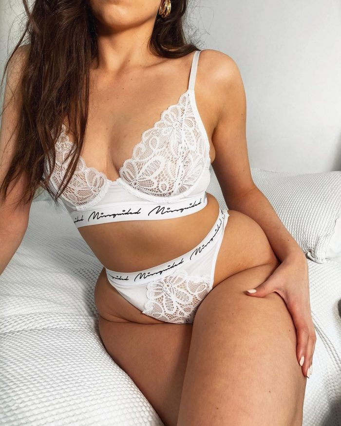 White misguided lingerie